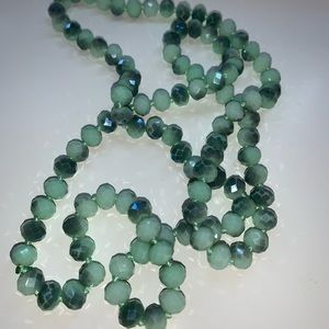 """""""30 Teal Bead Necklace"""